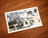 Vintage biker, Harley rider 1940's
