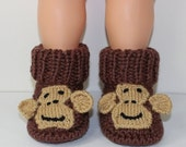 HALF PRICE SALE Instant Digital File pdf download - Toddler Monkey Boots knitting pattern