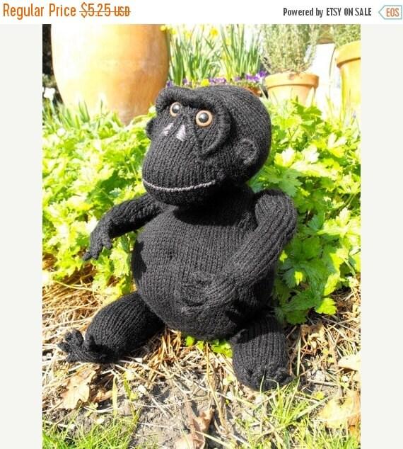 HALF PRICE SALE Instant Digital File pdf download knitting pattern - Malcolm Monkey toy animal pdf download knitting pattern