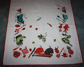 Vintage Picnic Table BBQ Back Yard Tablecloth