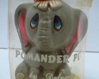 Vintage Elephant Pomander Pets Sachet Freshener Deodorizer By Delagar