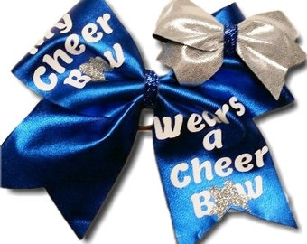 My Cheer Bow Wears a Cheer Bow Large Blue Mystique Hair Bow