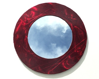 Bold Red Accent Mirror