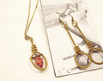 Noose Earrings and pendant