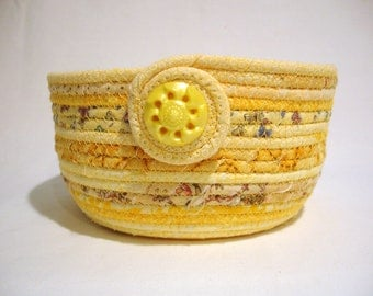 Coiled Fabric Bowl in Sunshine Yellow