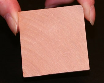 Unfinished Wood Square - 2 inches by 2 inches and 1/4 inch thick wooden shape (WW-C01425)