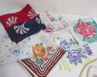 Ladies Handkerchiefs Lot of 6 Hankies