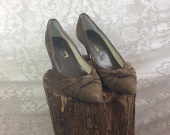 Vintage Suede Heels