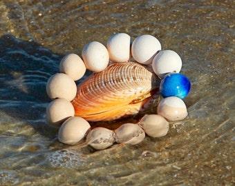 Ceramic Jewelry, Beaded Bracelet -  big bracelet,, boho jewelry, ceramic bracelet, handmade by StudioLeanne, statement jewelry