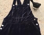 Purple Velvet Overalls - Comfortable Easy for Fall - Fancy Painter Pants - Soft Comfy Overalls - Jumper Pants - Rayon Silk Velvet - Size 6