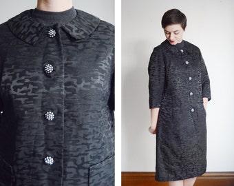 50s/60s Black Dress Jacket - M