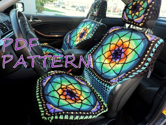 vibrant crochet seat covers pdf pattern. Black Bedroom Furniture Sets. Home Design Ideas
