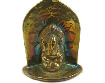 Reserved JOSE-  do not buy-GANESH Ganesha Altar Sculpture Raku Handmade Pottery