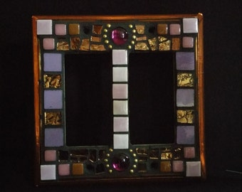 Purple/Brown/Gold Switchplate