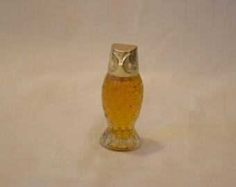 Avon Glass Owl Perfume Bottle