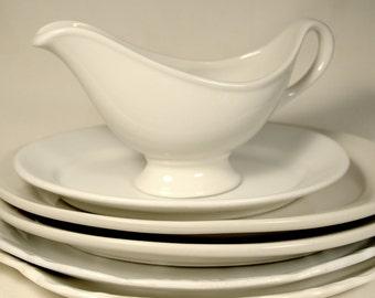 White Hall Gravy Boat * ironstone * ceramic * vintage china * pitcher