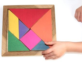 Tangram – Handmade Classic Wooden Puzzle