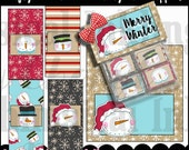 Krafty Snowman Mini Candy Bar Set - includes bag topper and 4 mini wrappers - Digital Printable - Immediate Download