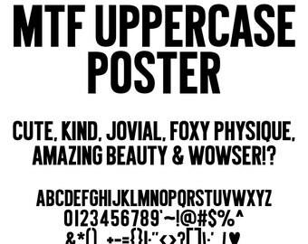 MTF Uppercase Poster Font