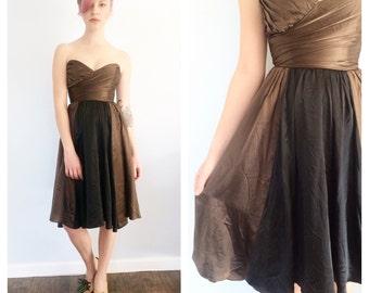 Vintage Betsey Johnson Silk Charmeuse Sweetheart Dress 2