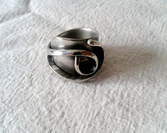 Upcycled ring size 10 -  Fork vintage handle