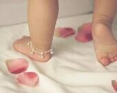 Sterling Silver Jingle Bells Anklet - Baby Anklet