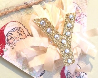 Joy Mini Banner - Shabby Banner, Party, Celebration, Christmas, Decoration, Santa, Ornaments, Trees, Glitter, Marquee Letters