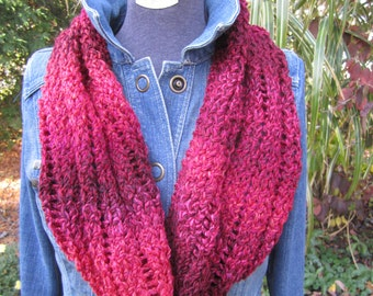Cranberry Red Cowl Scarf