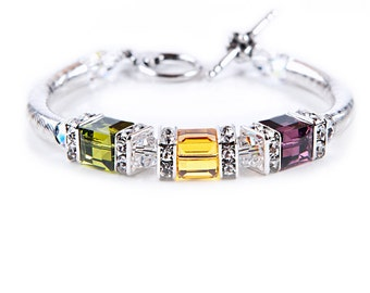 Swarovski Elements 3 Cube Bracelet