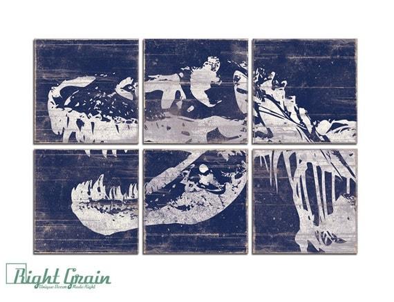 Large Custom Dinosaur Wall Art - Large Trex Print - Boys Room Art - Playroom Decor 24x36