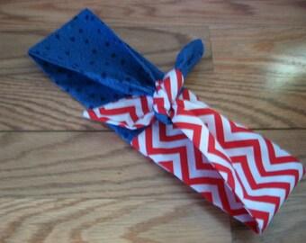 Head Scarf, Vote 2016,  American Flag, 50s Hair Rockabilly, Pin Up Headscarf, Headband, RockaBilly HairBand, Teens Women #107