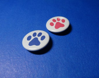 Paw Prints Pinback Button (or Magnet)