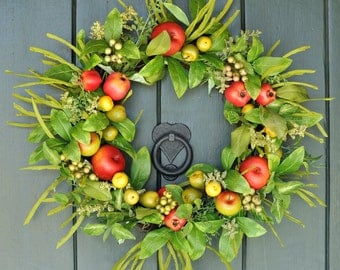 Orchard View - Fruit and Berry Wreath, Spring Wreath, Summer Wreath, Summer, Garden Party Decor, Mother's Day Gift, Spring, Easter