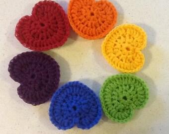Rainbow Heart Nylon Dish Scrubbies