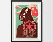 Star Wars, Print, Inspired, Vintage, Retro, Offset, Darth Vader Print, Star Wars Gift, Star Wars Print, Star Wars Poster, Scifi Art