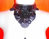 OH THE HORROR! / Sparkly Spider /Halloween Costume choker / Gothic Necklace / Statement piece/ Halloween Necklace