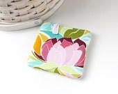 Pink Lotus Floral Coin Purse Floral Change Purse Floral Gift Card Holder