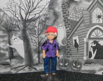 DARIN1-115) Darin doll clothes, 1 pants and shirt (halloween)