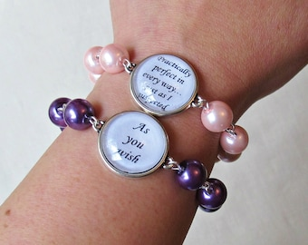 Quote Bracelet Jane Eyre Mary Poppins The Princess Bride. Anne of Green Gables Austen Bronte. Literature Beaded Jewellery Jewelry Handmade