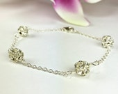 Bridal Bracelet Sparkly Bracelet Silver Crystal Bracelet Bridesmaid Bracelet Gift For Bridesmaid Formal Bracelet Bridal Jewelry Camryn