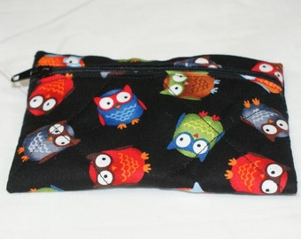 Colorful Owl Pouch  - Small (S219)