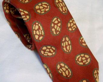 Vintage Neck Tie men's silk Robert Talbott 1990s Rust