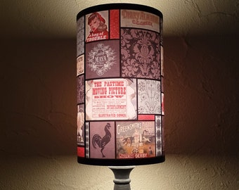 Just Like Mom's  lamp Shade Lampshade - unique lighting, Bohemian decor, fall decor, boho, french decor, autumn, gift for a mother