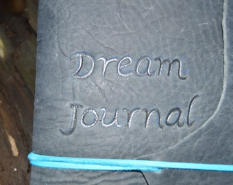 Handmade Leather Dream Journal with a Celtic Triquetra Free Personalization