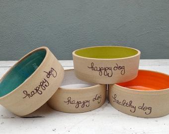 Large Dog Bowl, Personalized, Ceramic Dog Bowl, Large Breed, Handmade, Pottery Bowl, Dog Dish, Water Bowl, Food Bowl, Custom Dog Bowl, clay