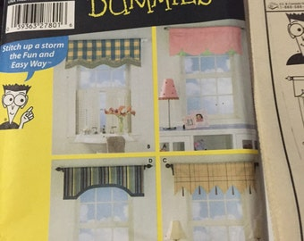 Valances sewing patterns for dummies 4997 uncut 4 valences curtains window dressing only 4.00