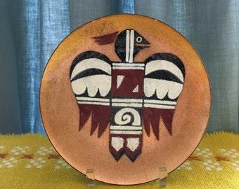Annemarie Davidson Native American Enamel Dish