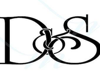 SALE - D VARIATIONS - Intertwining Ampersand Monogram