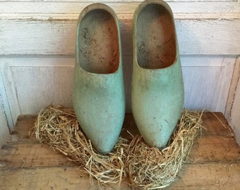 Antique French/Dutch Wooden Garden Shoes