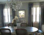 Beautiful Custom Dupioni Silk Drapes / Curtains Neutrals Grays